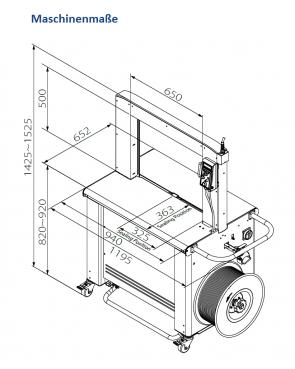 TP 702-12 - für Bandbreite 12 mm